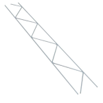 8 in. 9 ga x 9 ga Hot Dipped Steel 120 Truss-Mesh