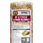 8 ft x 112.5  ft Single-Sided Straw Blanket