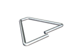 """CCS HB VEE 3"""" TRIANGLE TIE HOT DIPPED GALV.  250/BOX"""