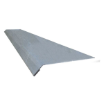 3 in. x 8 ft 26 ga Stainless Steel Drip Edge Plate