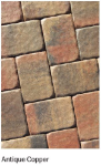 RCPJ INT PAVER COLONIAL 4X6 ANT. COPPER