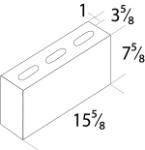 "4"" REGULAR CONCRETE BLOCK -  4X8X16 SMOOTH FACE"
