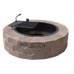 Necessories' Beechwood Grand Fire Ring Kit with Grate