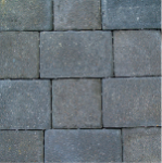 Borgert 6 in. x 9 in. Cobble Series™ Charcoal Pavers