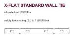 EDMAR X-TYPE FLAT TIE 12 IN