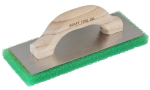 10 in. x 4 in. Green Coarse Texture Float with Wood Handle Model# PL602