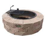 Necessories' Desert Grand Fire Ring Kit with Swivel Cooking Grate