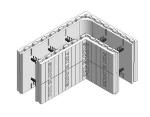 Fox Blocks 8 in. Insulated Concrete Formation 90 Degree Corner