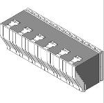Fox Blocks 8 in Insulated Concrete Formation Corbel Ledge Block