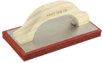 8 in. x 4 in. Fine Cell Red Rubber Float with Wood Handle Model# PL371