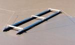 4 ft Black Chameleon Trac II Dual Broom System