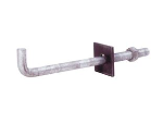 Grip Rite 50 ct 1/2-in. x 10 in. L-Shaped Anchor Bolt with Nut and Square Washer Model 1210GABS50
