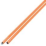 6 ft Orange Powder Coated Aluminum Swaged Button Handle Model# CC289SO