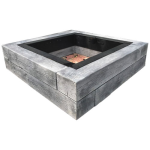 Barn Plank Square Fire Pit
